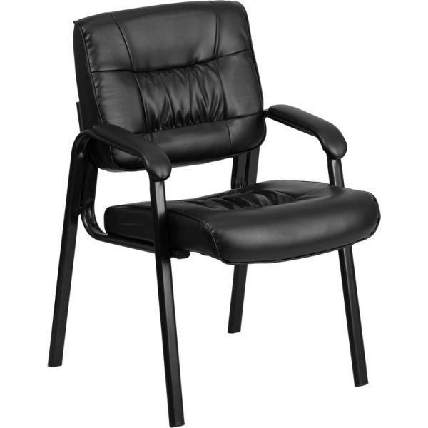 Flash Furniture Black Leather Guest Chair