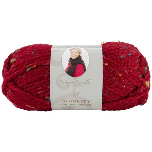 Deborah Norville Collection Serenity Chunky Tweed Yarn - Claret
