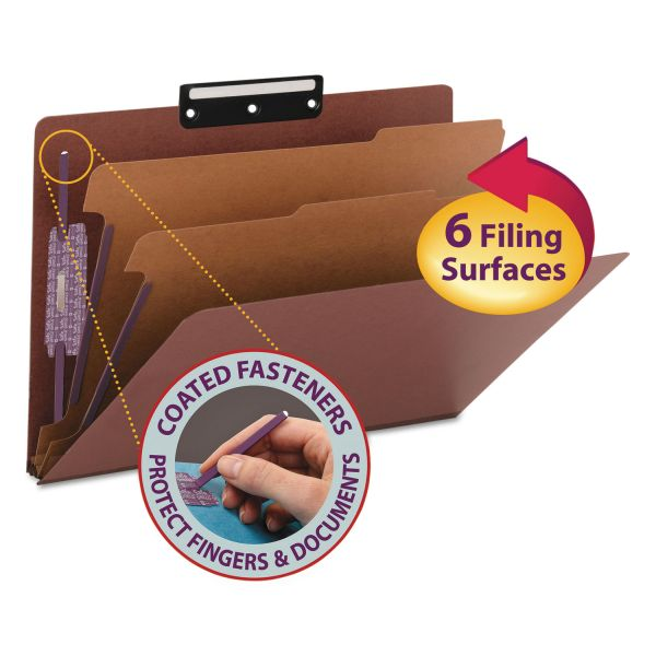 Smead SafeSHIELD Metal Tab Classification Folders