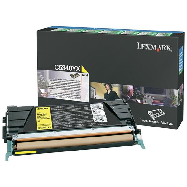 Lexmark C5340YX Yellow High Yield Return Program Toner Cartridge