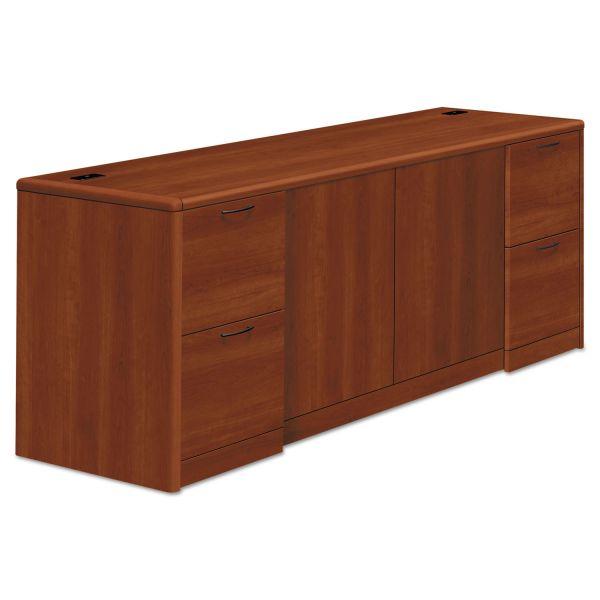 HON 10700 Series Credenza w/Doors, 72w x 24d x 29 1/2h, Cognac
