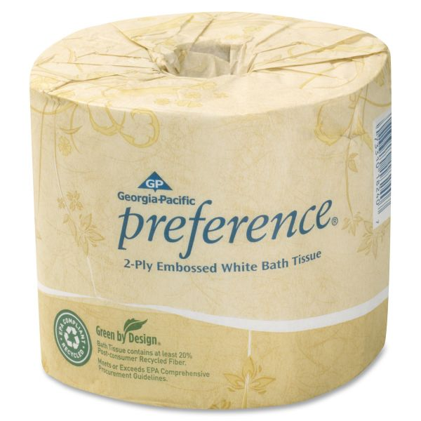 Preference Embossed 2 Ply Toilet Paper