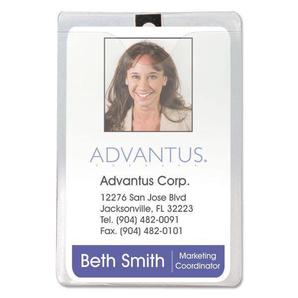 Advantus Vertical ID Badge Holders