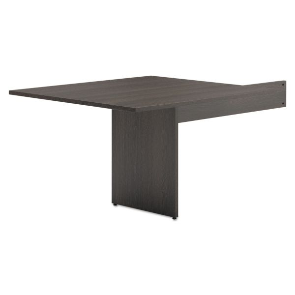 "HON basyx by HON Modular Conference Table End | Slab Base | Rectangle End | 48""L"