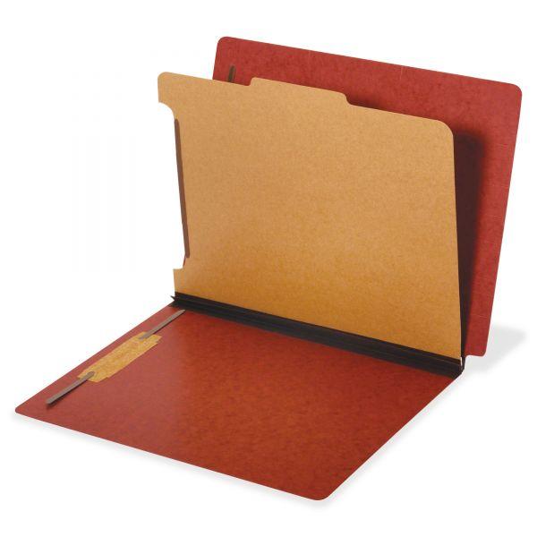 Globe-Weis Dual Tab 1-Divider Pressboard Classification Folders