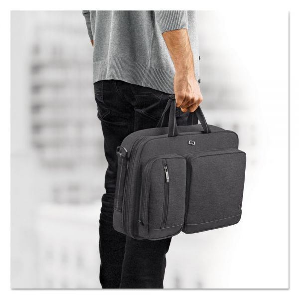 "Solo Urban Hybrid Briefcase, 15.6"", 16 3/4"" x 4"" x 12"", Gray"