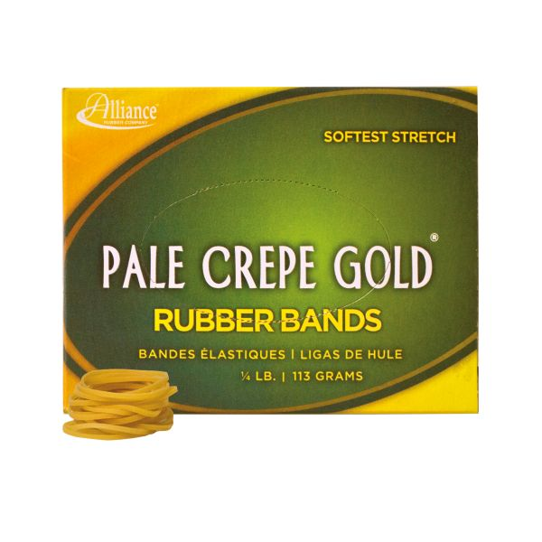 Pale Crepe Gold #12 Rubber Bands