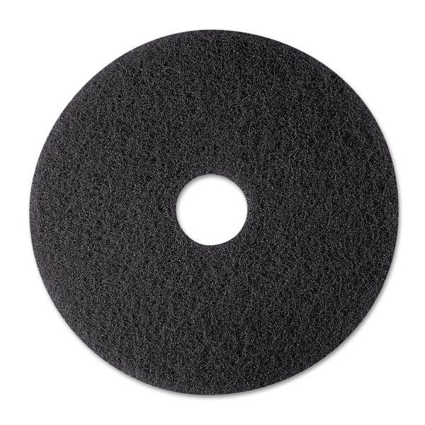 "3M Low-Speed Stripper Floor Pad 7200, 12"" Diameter, Black, 5/Carton"