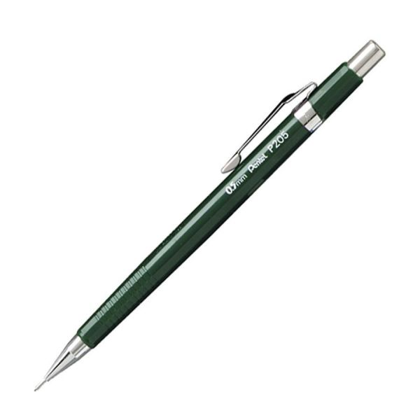 Pentel Sharp Mechanical Drafting Pencil, 0.5 mm, Green Barrel