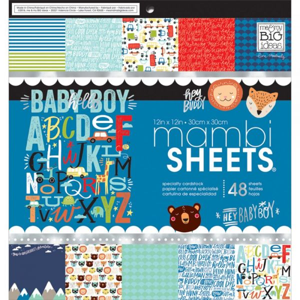 "Mambi Single-Sided Paper Pad 12""X12"" 48/Pkg"