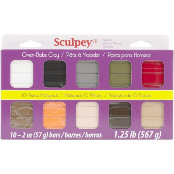 Sculpey III Polymer Clay Naturals Multipack