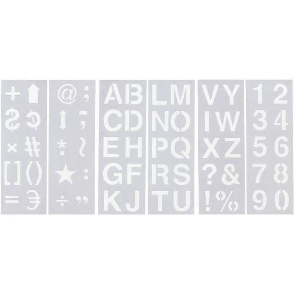 "Stencil Sheet Set 13""X4.5"" 6/Pkg"