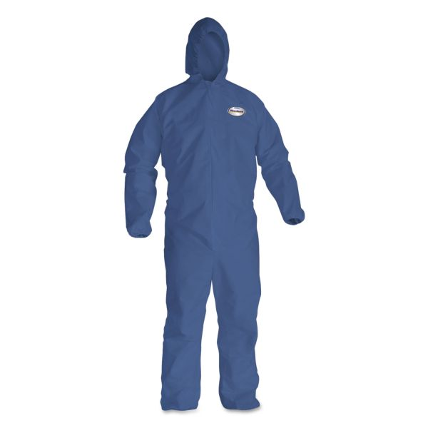 KleenGuard* A30 Splash and Particle Protection Coveralls, 4XL, White, 24/Carton