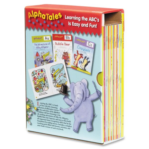 Scholastic AlphaTales Alpha Tales Learning Library Set, Grade K-1, Softcover, 128 pages