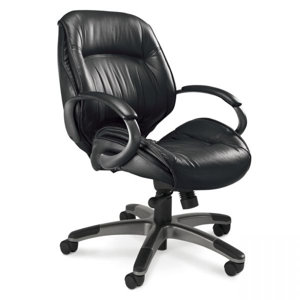 Tiffany Ultimo Managerial Mid-Back Leather Office Chair
