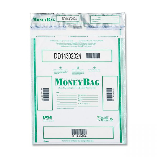 PM Company SecurIT Triple Protection Tamper-Evident Deposit Bags