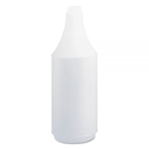 Boardwalk Embossed Spray Bottle, 32 oz, Clear, 24/Carton