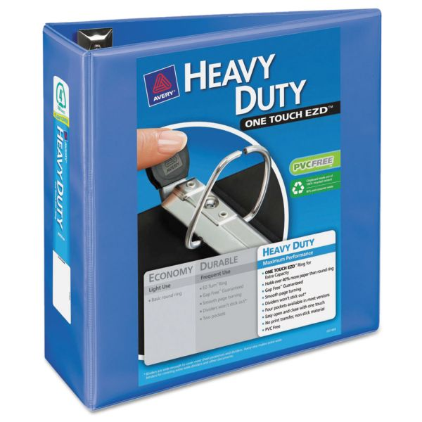 "Avery Heavy Duty 4"" 3-Ring View Binder"