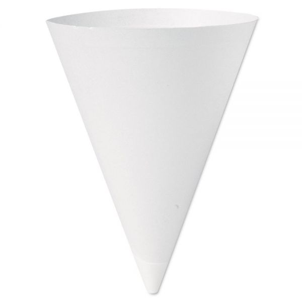 SOLO Cup Company Bare Treated Paper 7 oz Cone Water Cups
