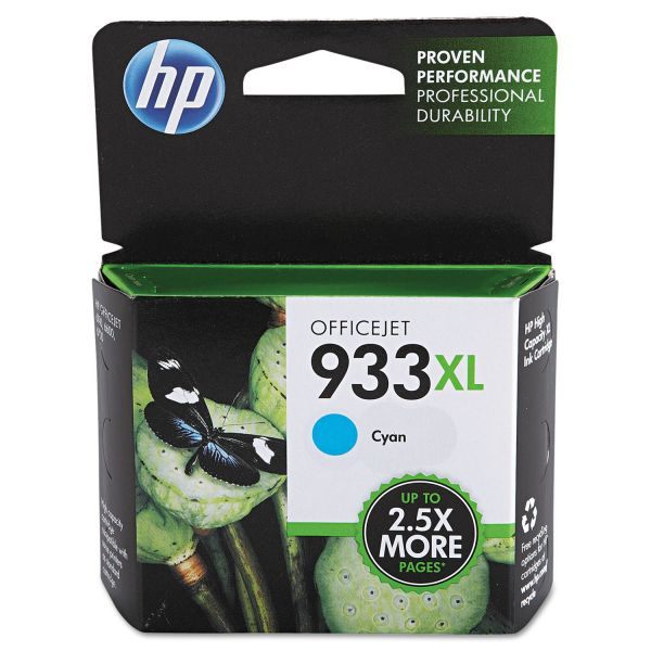HP 933XL High Yield Cyan Ink Cartridge (CN054AN)