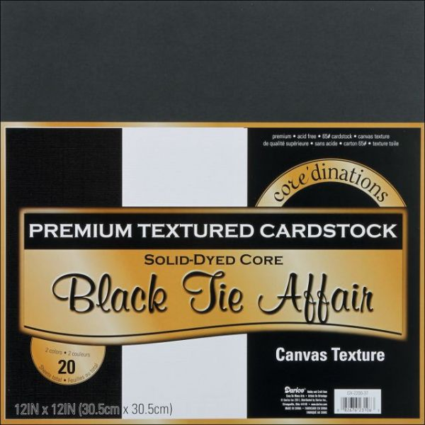 Core'dinations Premium Textured Black Tie Affair Cardstock