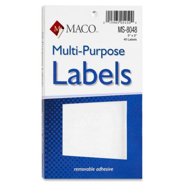 Maco Multipurpose Self-Adhesive Removable Labels