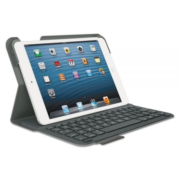 Logitech Ultrathin Keyboard Folio for iPad Mini and iPad Mini with Retina Display, Gray