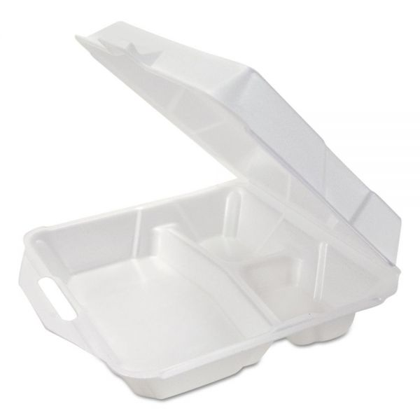Genpak Foam Clamshell Takeout Containers