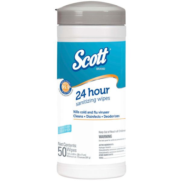 Scott 24-Hour Sanitizing Wipes