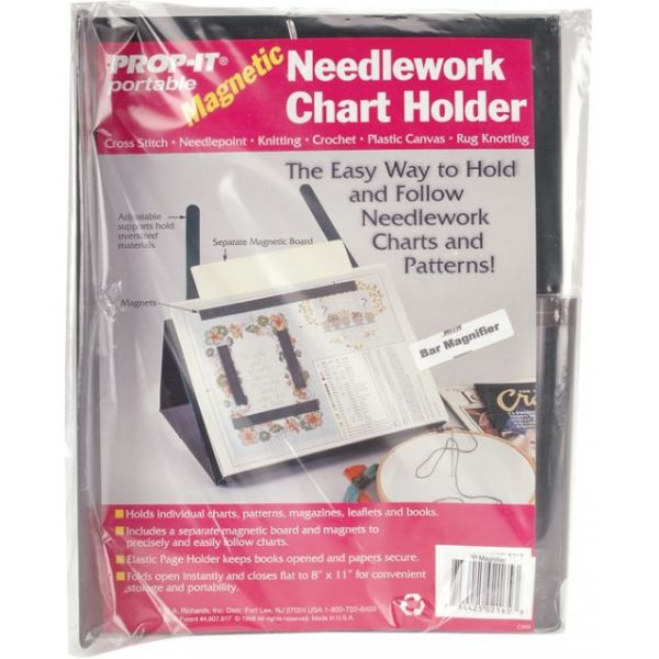 PROP-IT Magnetic Needlework Chart Holder W/Magnifier