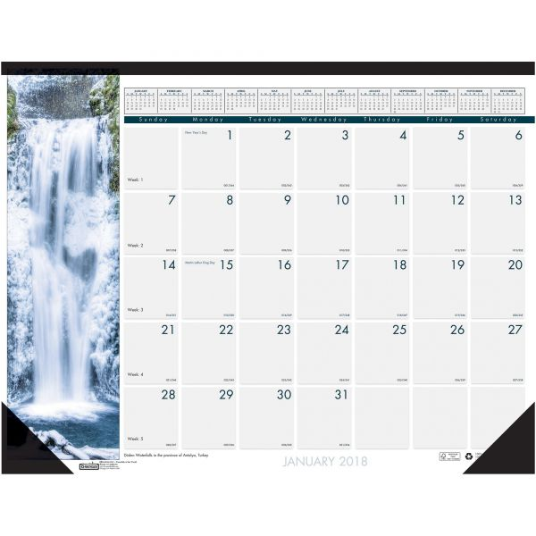 House of Doolittle Earthscapes Monthly Desk Pad Calendar