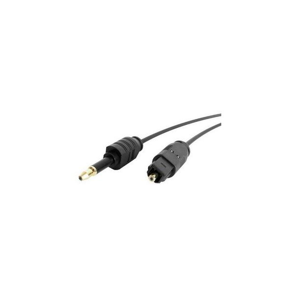 StarTech.com 10 ft Toslink to Miniplug Digital Audio Cable