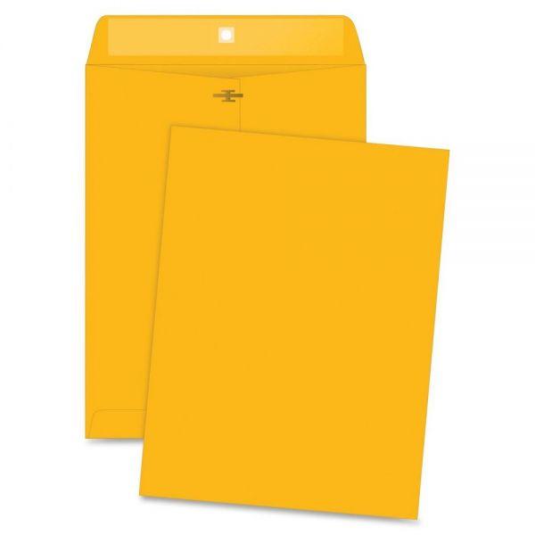 "Business Source Gummed 9 1/2"" x 12 1/2"" Clasp Envelopes"