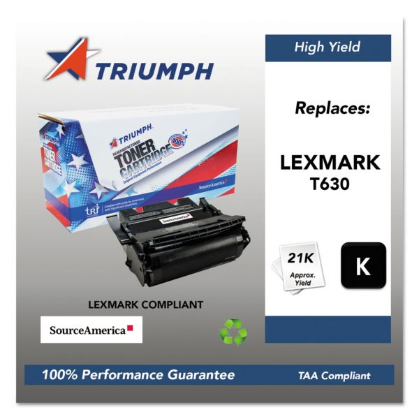 SKILCRAFT Remanufactured Lexmark 12A7462 Black Toner Cartridge