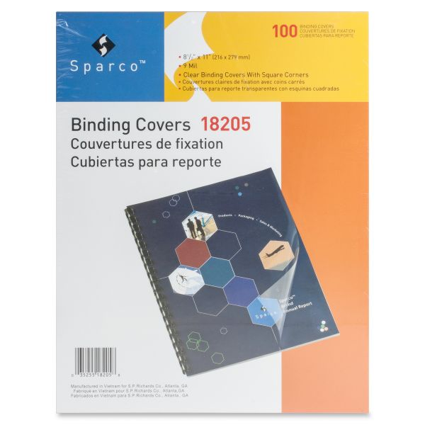 Sparco Clear View Premium Presentation Binding Covers