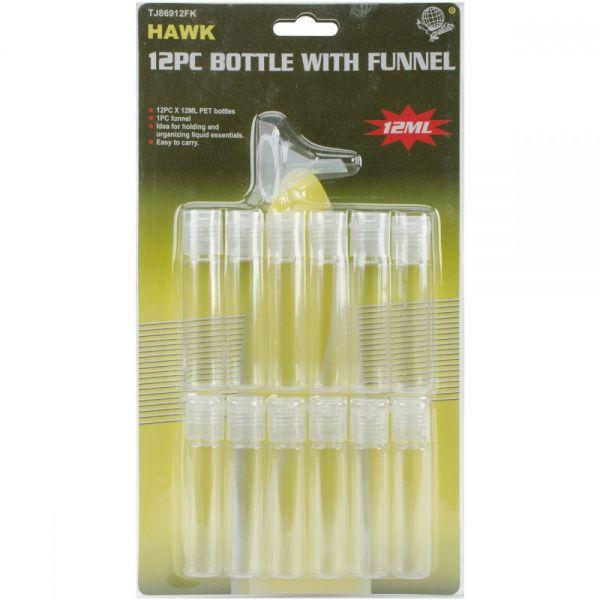 12ml Tubes W/Funnel 12/Pkg