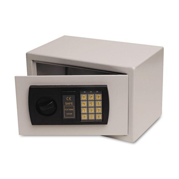 FireKing Small Personal Safe, 0.3 cu. ft., 12 1/4w x 7 3/4d x 7 3/4h, Light Gray