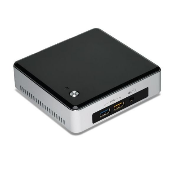 Intel NUC5i5RYK Desktop Computer - Intel Core i5 i5-5250U 1.60 GHz - Mini PC - Silver, Black