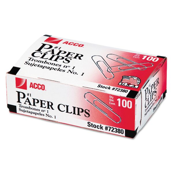 Acco #1 Paper Clips