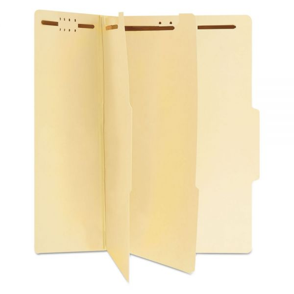 Universal Manila 2-Divider Classification Folders