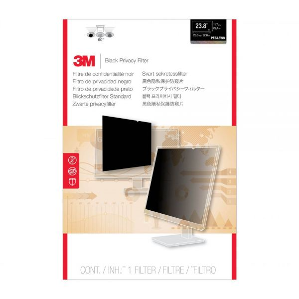 "3M PF23.8W9 Privacy Filter for Widescreen Desktop LCD Monitor 23.8"" Black"