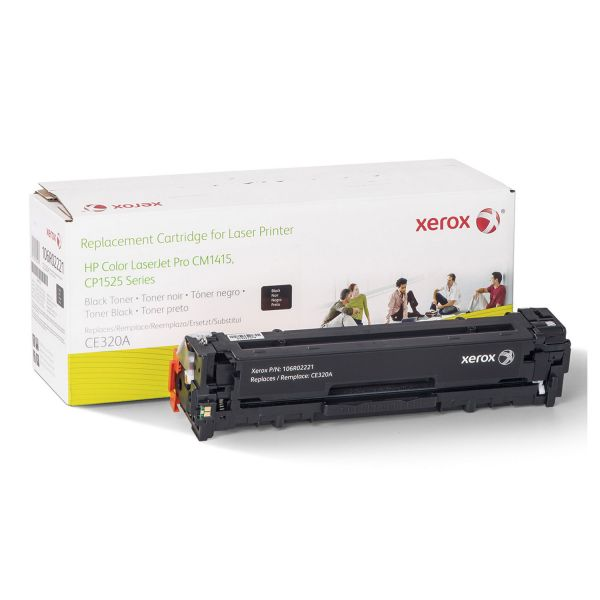 Xerox Remanufactured HP CE320A Black Toner Cartridge
