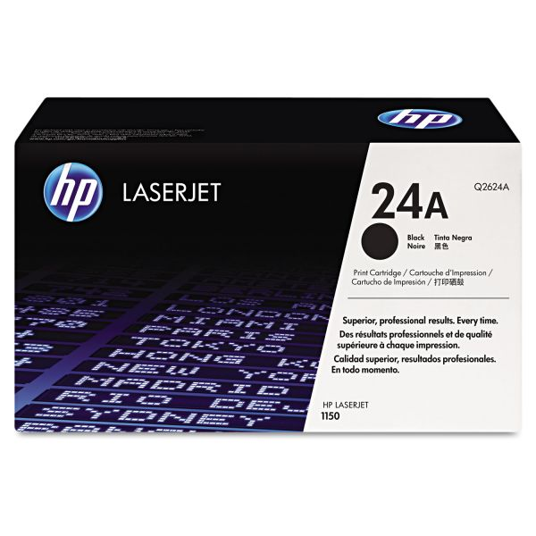 HP 24A, (Q2624A) Black Original LaserJet Toner Cartridge