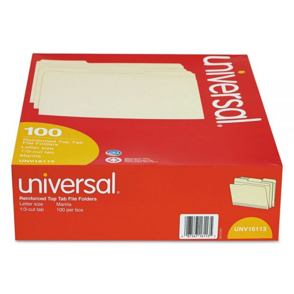 Universal Double-Ply Top Tab Manila File Folders