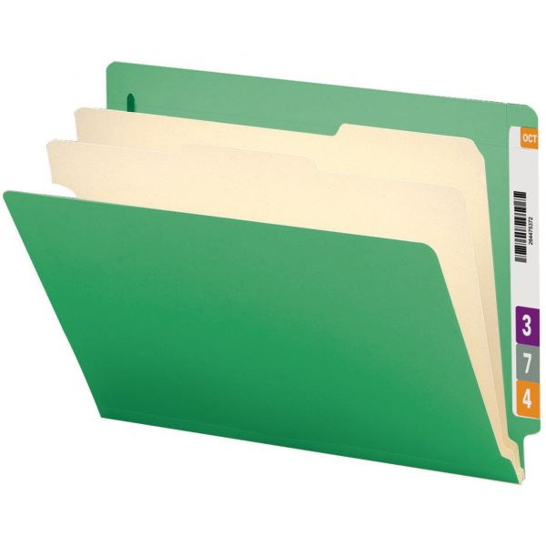 Smead End Tab Green Classification File Folders