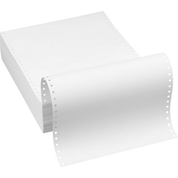 Southworth 25% Cotton Continuous Paper, White, 20lb, 9 1/2 x 11, Perforated, 1000 Sheets