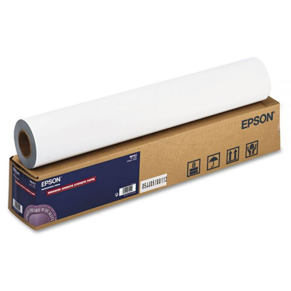"Epson Enhanced Adhesive 24"" Wide Format Synthetic Paper"