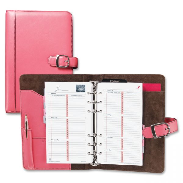 Day-Timer Pink Ribbon Leather Starter Set