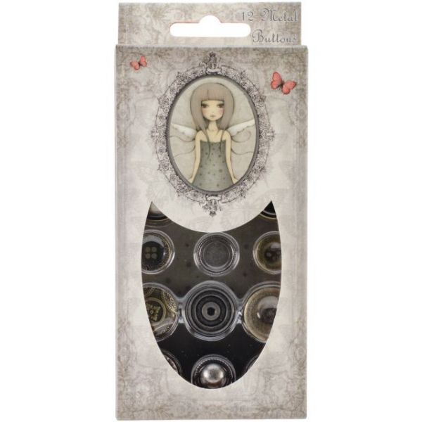 Santoro Mirabelle Metal Buttons 12/Pkg