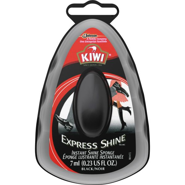 SC Johnson Kiwi Express Shine Sponge, Black, 7 mL, 12/Carton
